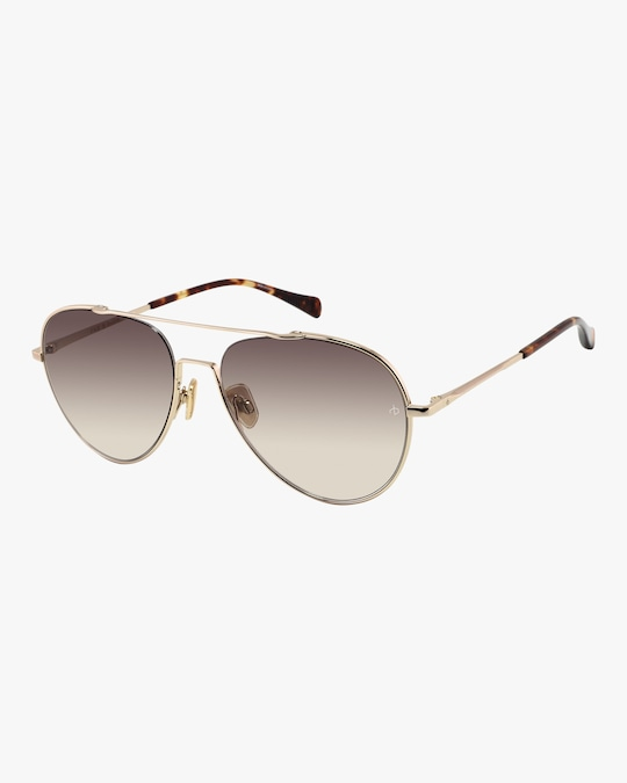 rag & bone Double-Bridge Aviator Sunglasses 0