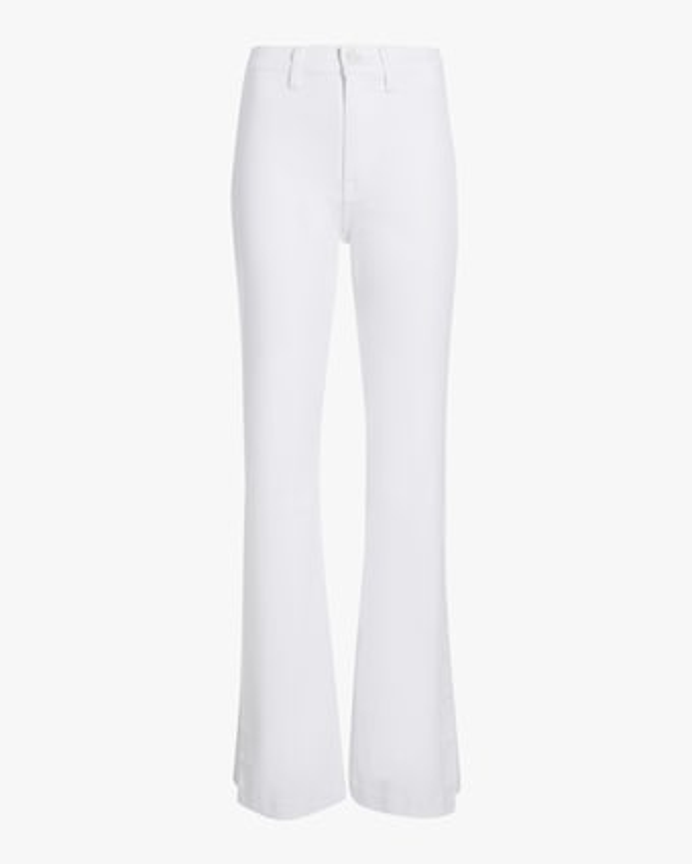 High-Slit Flare Jeans