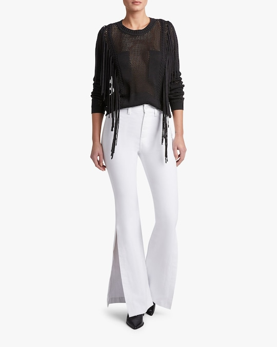 7 For All Mankind High-Slit Flare Jeans 1