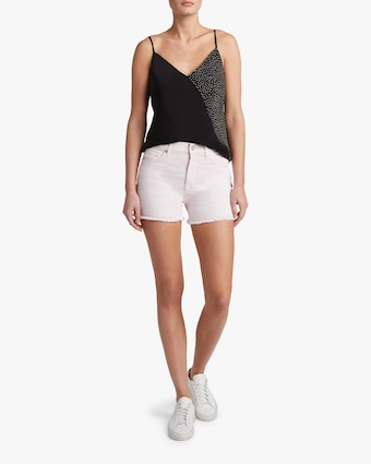 High-Waist Frayed Shorts
