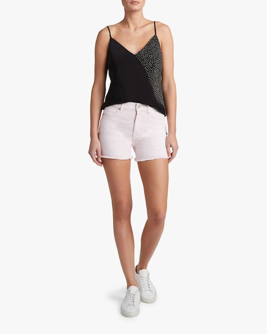 7 For All Mankind High-Waist Frayed Shorts 1