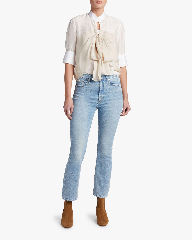 7 For All Mankind High-Waist Slim Kick Jeans 1
