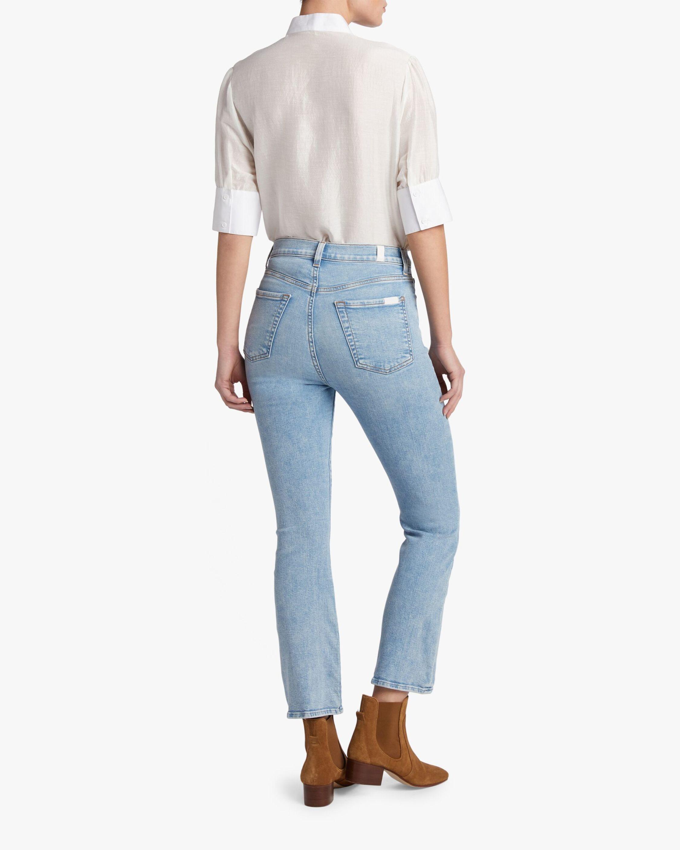 7 For All Mankind High-Waist Slim Kick Jeans 2