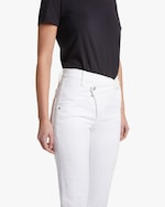 7 For All Mankind Asymmetric High Waist Cropped Straight Jeans 3