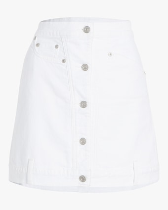 Asymmetrical Button-Front Skirt