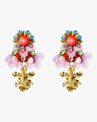 Bergenia Clip-On Earrings