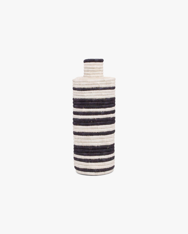 Decorative Striped Woven Vase