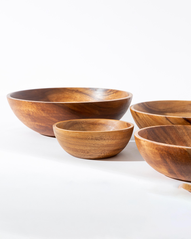 The Little Market Wooden Soup Bowl 1