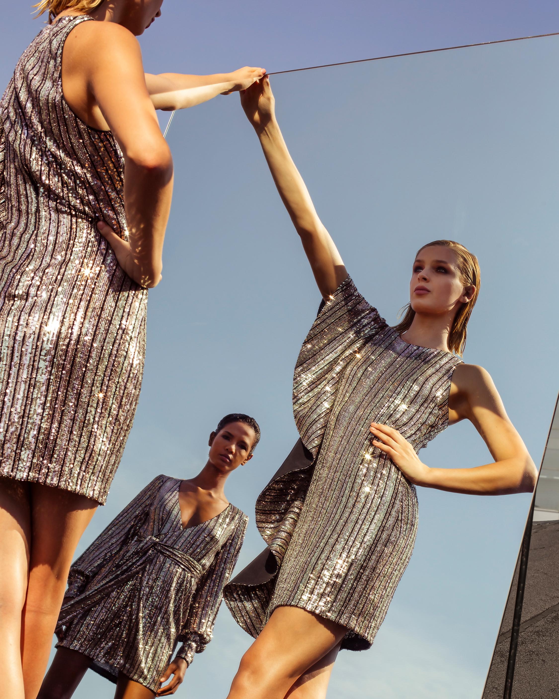 One33 Social Ruffle-Sleeve Sequin Mini Dress 2