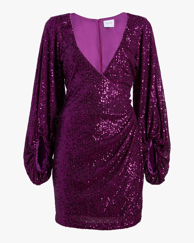 One33 Social Puffed-Sleeve Sequin Mini Dress 0