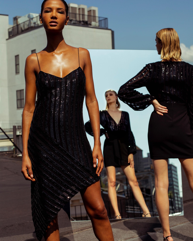 Asymmetric Slip Dress