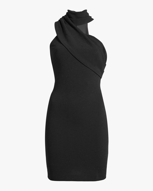 Front Drape Cocktail Dress