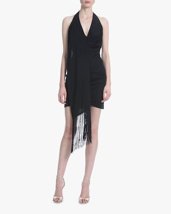 Fringe Halter Dress