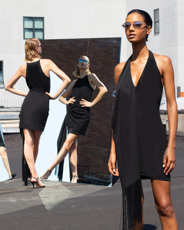 One33 Social Fringe Halter Dress 2
