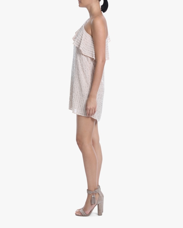 One33 Social Beaded One-Shoulder Dress 1
