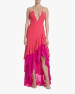 One33 Social Ruffle Maxi Dress 0