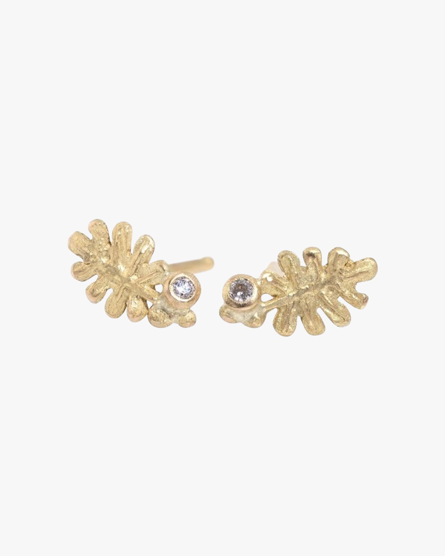 Lene Vibe Coral Diamond Stud Earrings 2