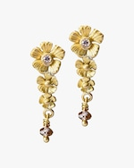 Lene Vibe Flower Diamond Drop Earrings 0