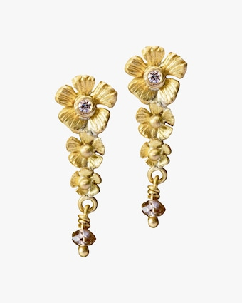 Lene Vibe Flower Diamond Drop Earrings 2