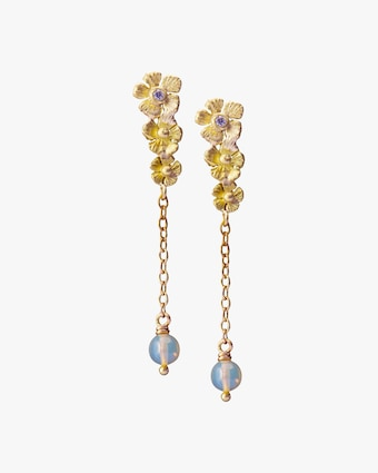 Flower Opal Drop Earrings