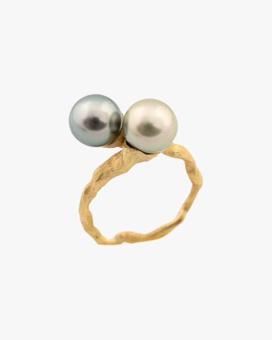Lene Vibe Double Pearl Ring 0