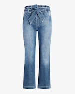 Joe's Jeans The Paperbag Wide-Leg Cropped Jeans 0