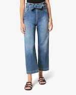 Joe's Jeans The Paperbag Wide-Leg Cropped Jeans 1