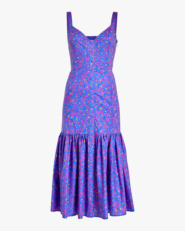 Tanya Taylor Calle Midi Dress 0