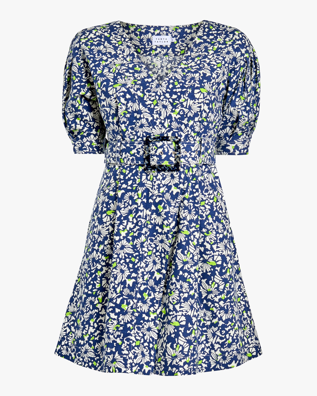 Tanya Taylor Coral Fit & Flare Dress 1