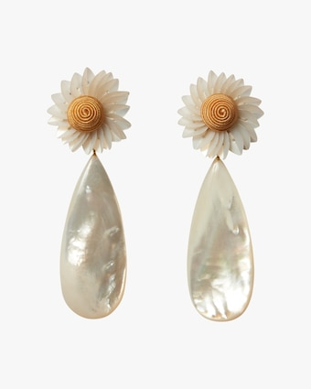 Fresh-Cut Daisy Drop Earrings