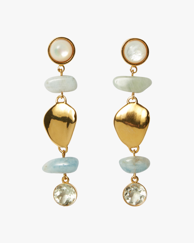 Lizzie Fortunato Blue Cove Drop Earrings 0