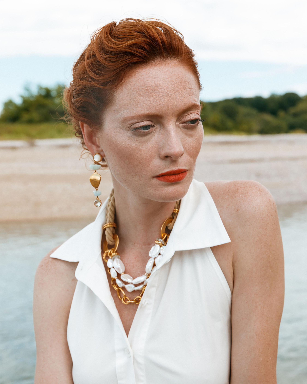 Lizzie Fortunato Blue Cove Drop Earrings 1