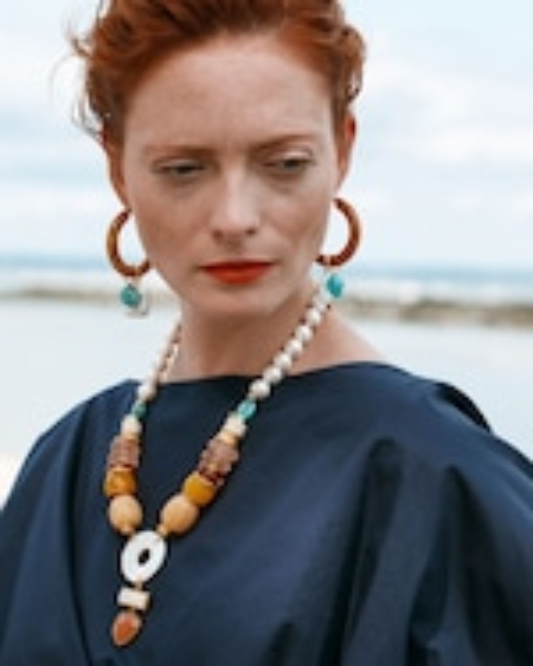 Lizzie Fortunato Spritz Turquoise Hoop Earrings 1