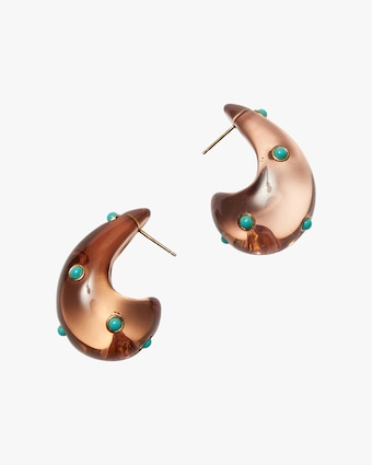 Lizzie Fortunato Arp Turquoise Earrings 1