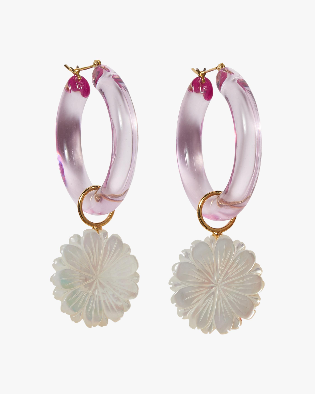 Spritz Mother-of-Pearl Hoop Earrings
