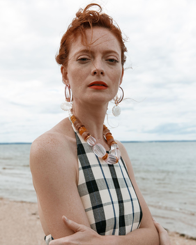 Lizzie Fortunato Spritz Mother-of-Pearl Hoop Earrings 1