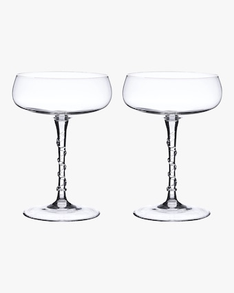 Juliska Amalia Champagne Coupe Set 2