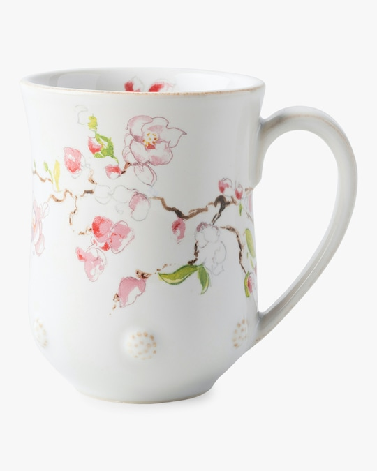 Juliska Berry & Thread Floral Sketch Cherry Blossom Mug 0