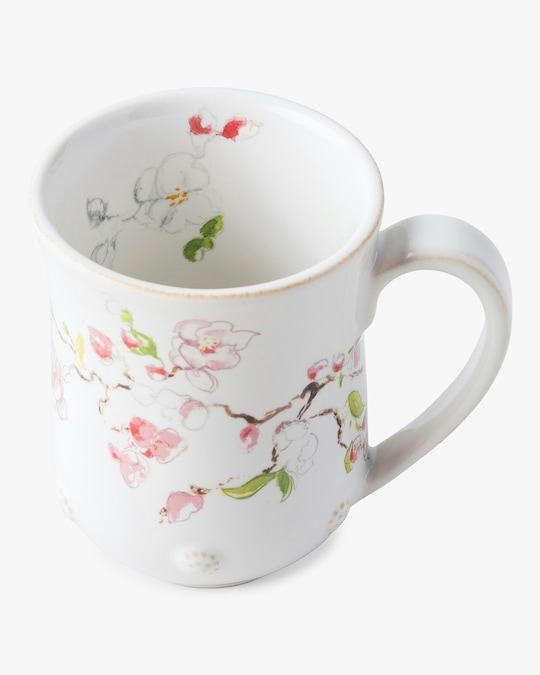 Juliska Berry & Thread Floral Sketch Cherry Blossom Mug 1