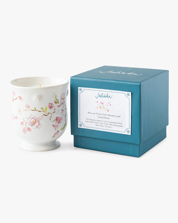 Juliska Berry & Thread Floral Sketch Cherry Blossom Candle 0