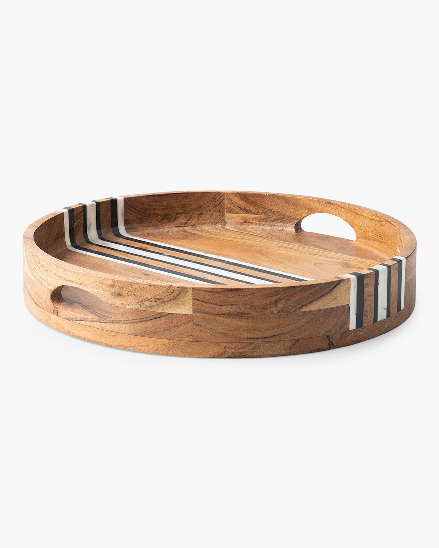 Juliska Stonewood Stripe Round Tray 0