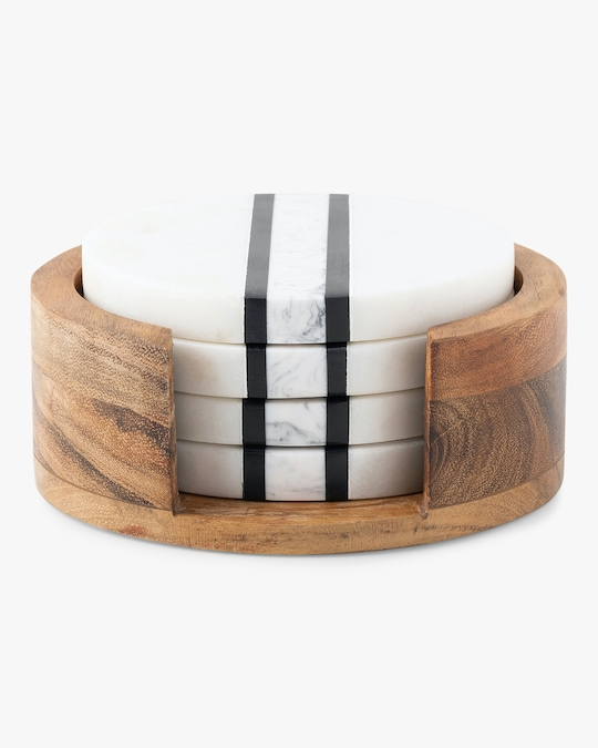 Juliska Stonewood Stripe Coaster Set 0