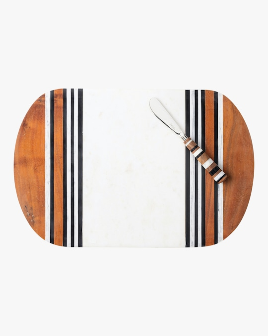 Juliska Stonewood Stripe Serving Board Set 0