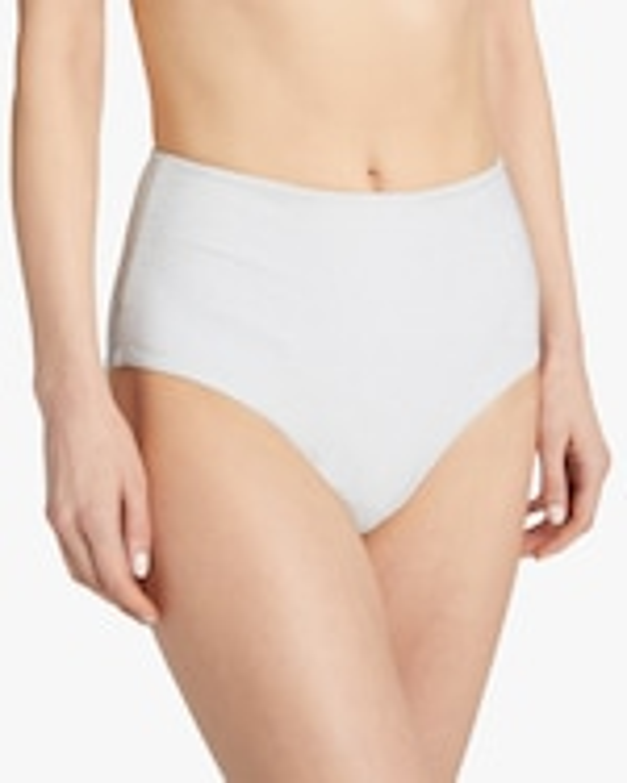 Mikoh Mulki Metallic High-Waist Bikini Bottom 0