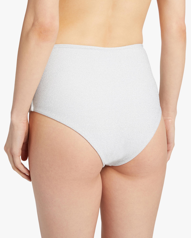 Mikoh Mulki Metallic High-Waist Bikini Bottom 1