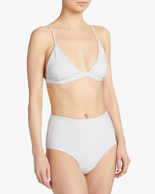 Mikoh Mulki Metallic High-Waist Bikini Bottom 2