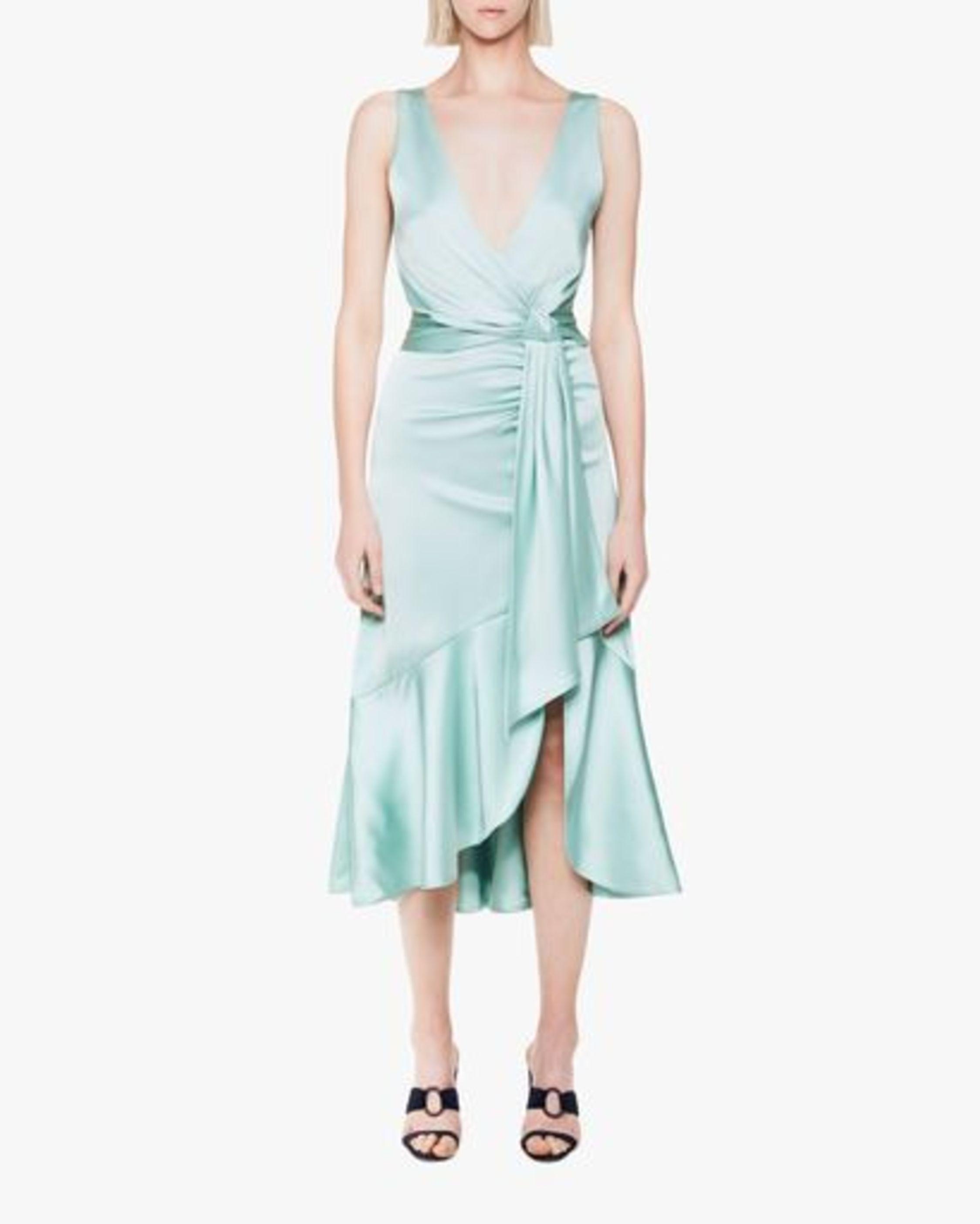 Jonathan Simkhai Mia Fluid Satin Maxi Dress 0