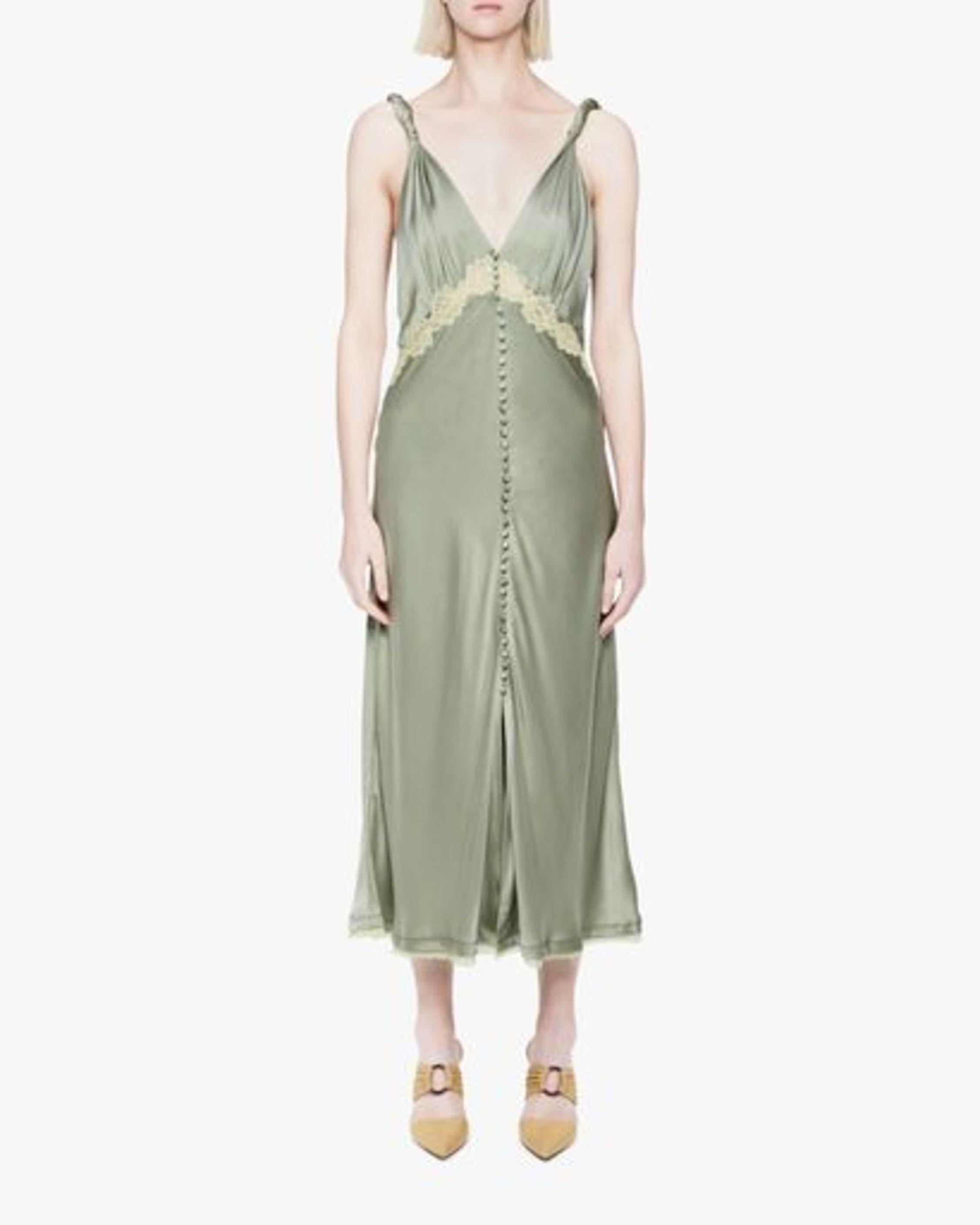 Jonathan Simkhai Kendra Sandwash Charmeuse Slip Dress 1