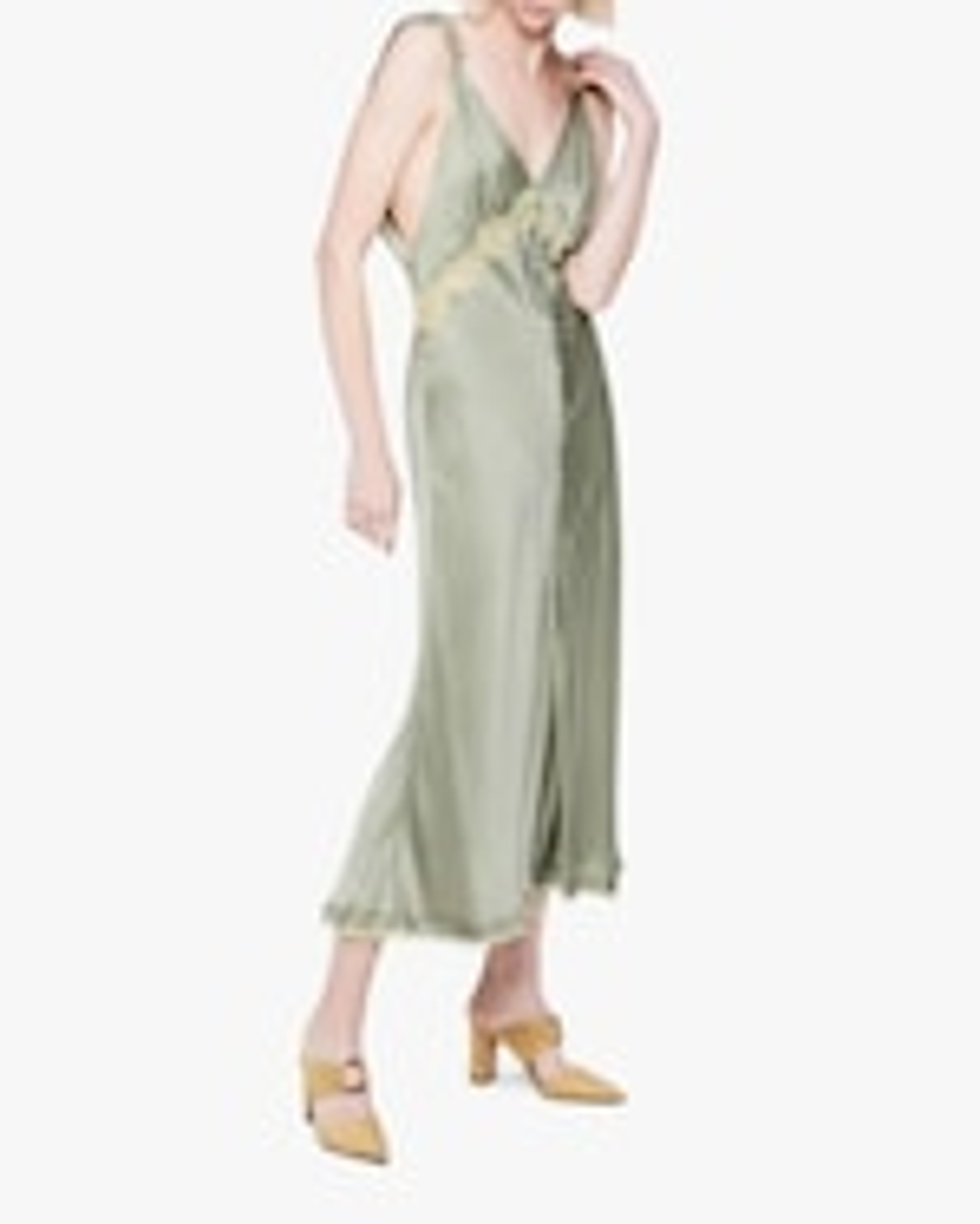 Jonathan Simkhai Kendra Sandwash Charmeuse Slip Dress 4