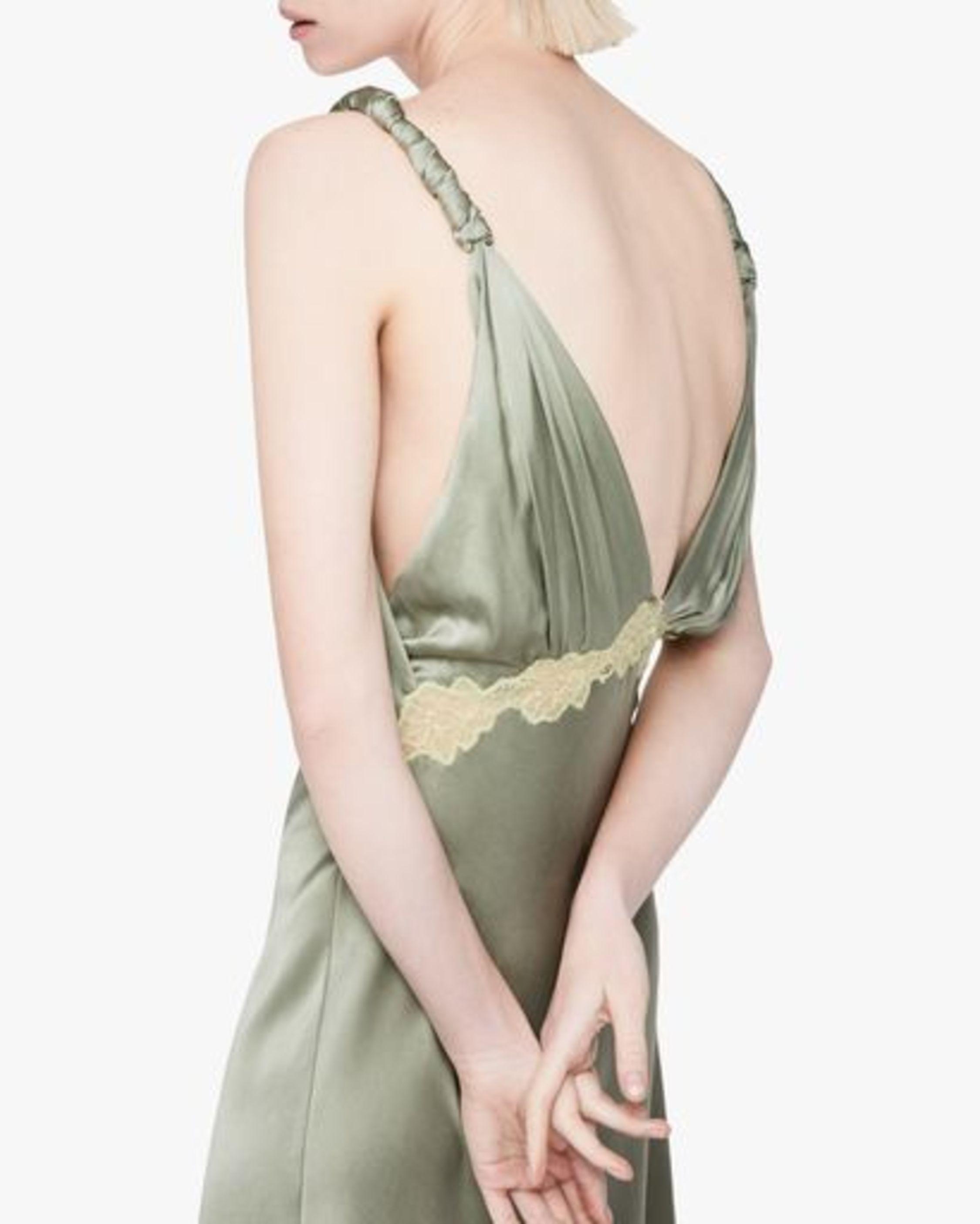 Jonathan Simkhai Kendra Sandwash Charmeuse Slip Dress 5